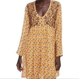 Zara Floral Dress Babydoll Boho Flowy XL